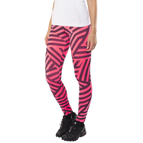 Salming Flow Tights Women Coral/All Over Print